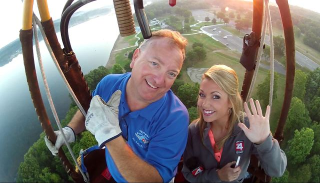 Hot Air Balloon Ride Scott Lorenz & Ashley Baracy WDIV-TV